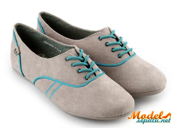 Sepatu Oxford Wanita Baru Kulit Suede | Model Sepatu