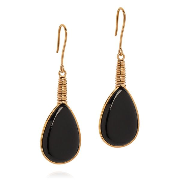 Black Tear Drop Earrings | Sienna Bella | Wolf & Badger