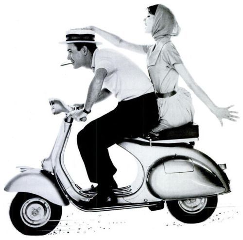 The only way to travel, 1959.: Cigars Silly, Scooters Travel, Adverti Packaging, Vintage Observed, Bella Vespas, Behind Adverti, Vintage Vespas, I Noticed Tobacco, Photo