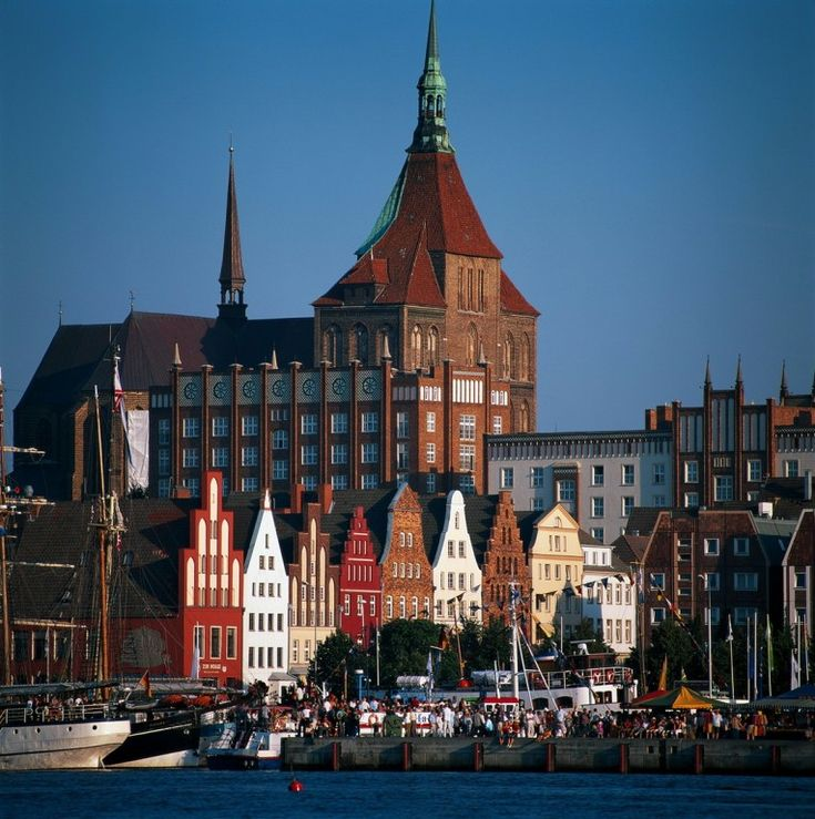 Rostock, Germany, Church of St. Mary and old town.  Go to www.YourTravelVideos.com or just click on photo for home videos and much more on sites like this.