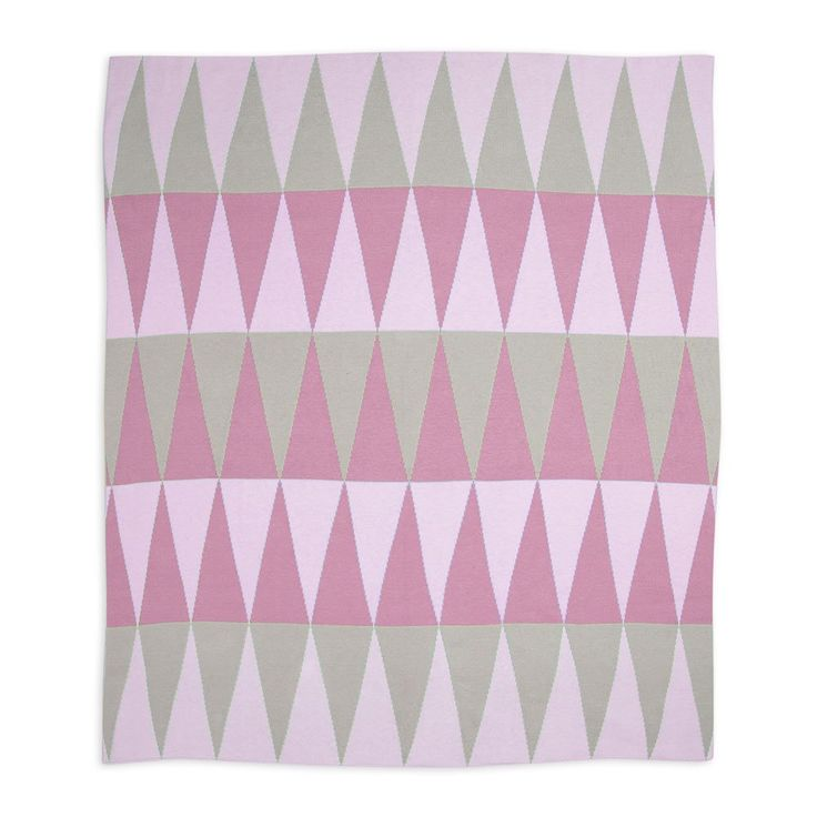Cotton Knitted Blanket - Carousel Pink