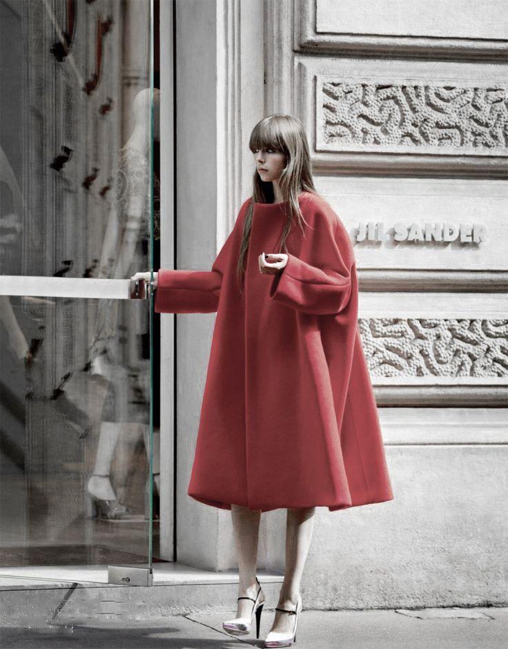 swingy red coat