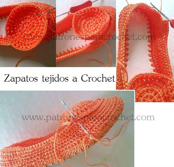 Cómo tejer y armar zapatos crochet