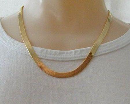 10k gold herringbone chains