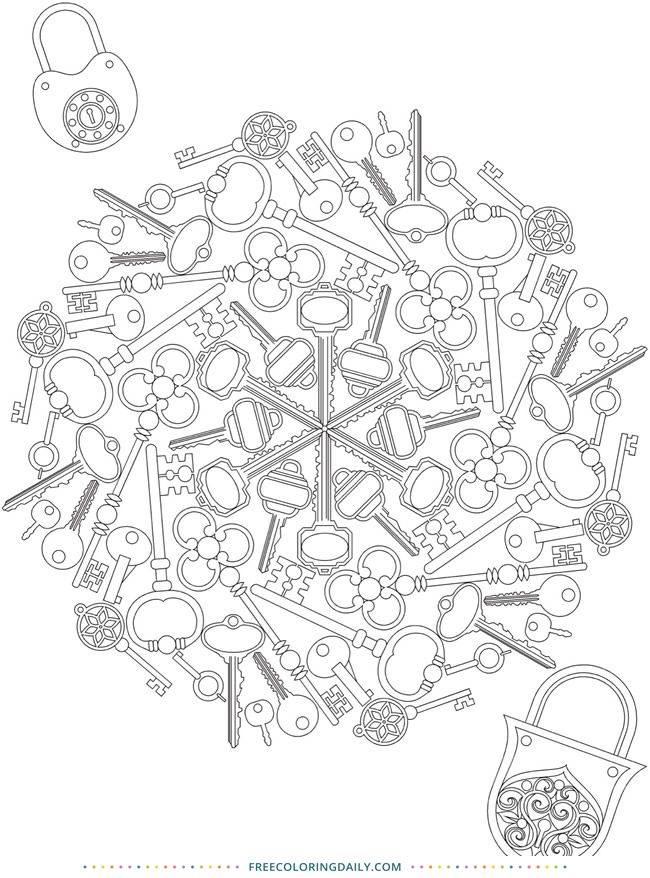Free Lock Pattern Coloring Pages Abstract Coloring Pages Coloring Books