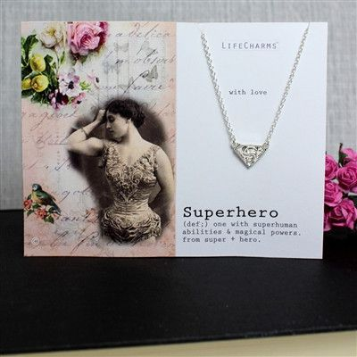 Superhero necklace