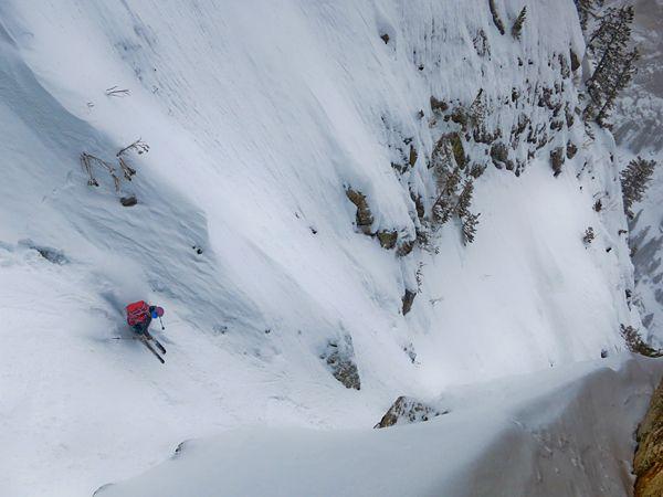 Backcountry Skiing Prospectors Peak, Grand Teton National Park, Wyoming  (Photograph by Kim Havell).