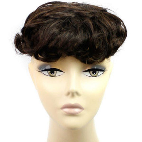 Fluffy Curly Vogue Clip In 100 Percent Brazilian Human Hair Toupee #men, #hats, #watches, #belts, #fashion, #style
