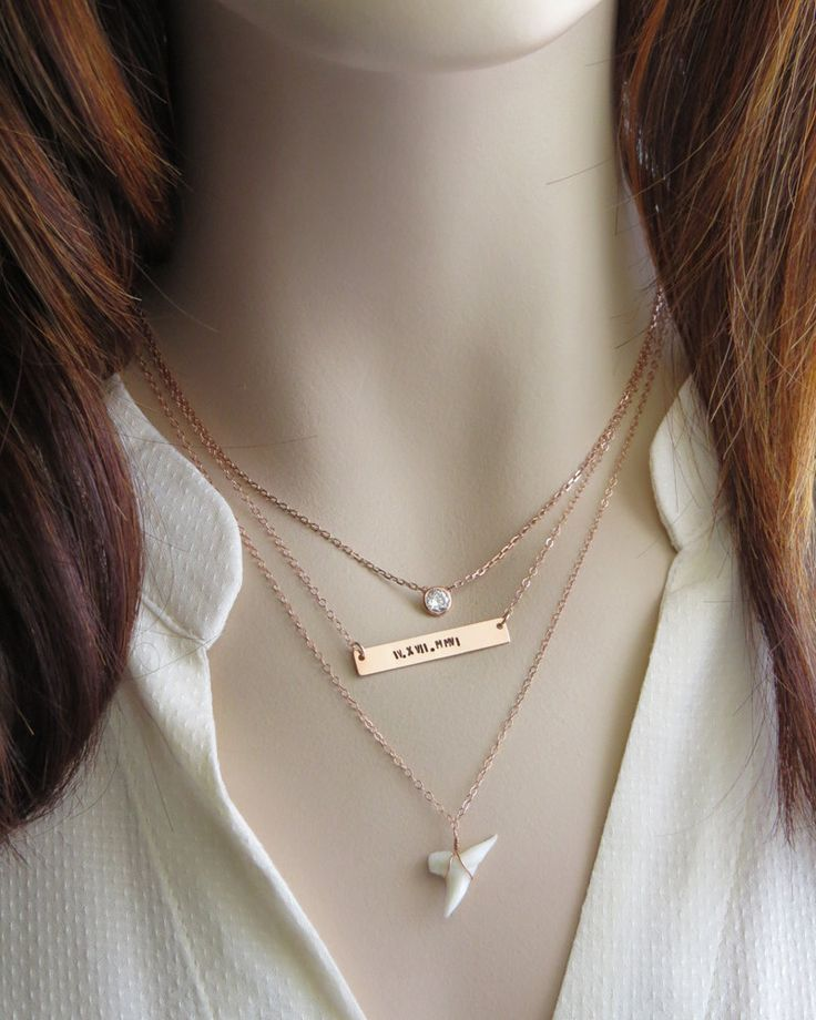 Personalized Bar Necklace Gold Customized Name Simple Modern Pendant Custom Hand Stamped