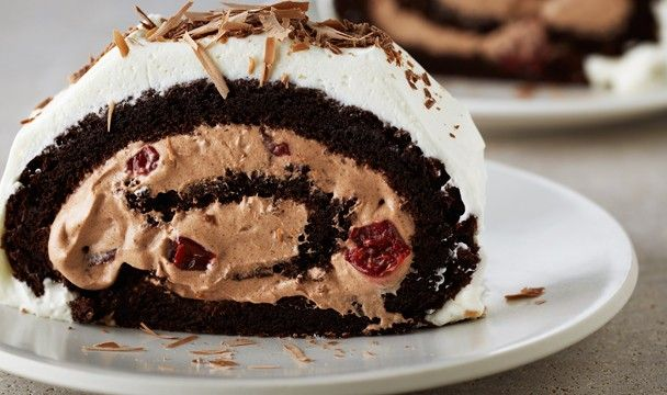 Flourless Black Forest Roulade | Bake with Anna Olson | The Home Channel