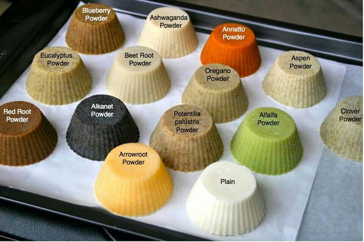 Natural herbal soap colors