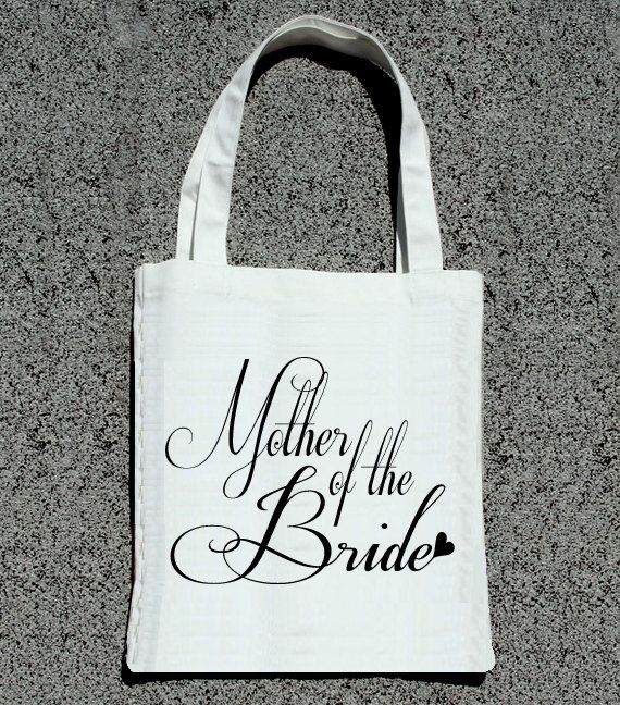 Mother of the Bride Fancy Wedding Tote Bags by ilulily on Etsy, $10.00