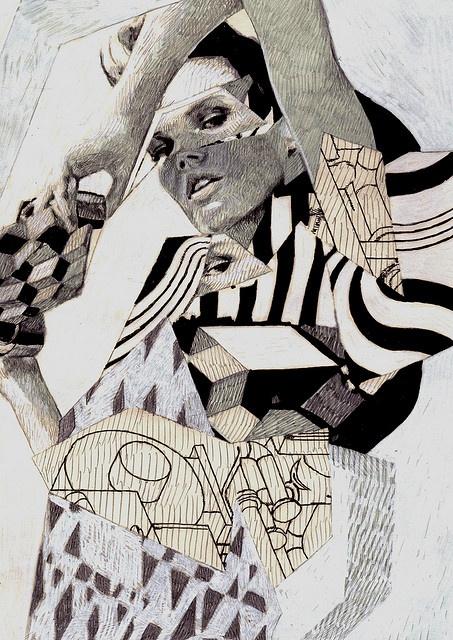 Fashion Sketchbook ideas; fashion illustration; fashion collage drawing // Anna Higgie