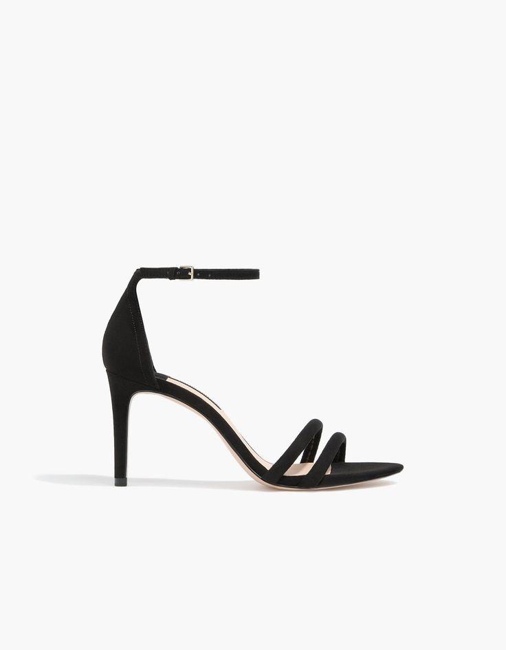 Sandales talon aiguille noires - Nouveau | Stradivarius France Soldes d'hiver