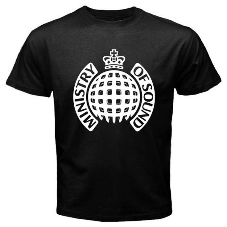 New Ministry of Sound Dance House Music Logo Men's Black T-Shirt Size S to 2XL Cartoon Print Short Sleeve T Shirt Free Shipping