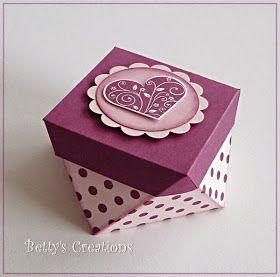 Bettys-creations: Anleitung für eine extravagante Geschenkbox