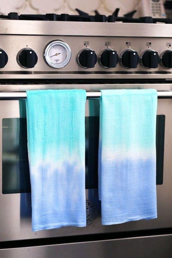 How to Tie Dye Dishtowels & 12 other cool tie dye idea