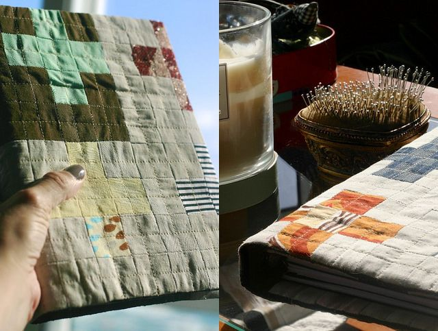 Quilted notebook cover by Montse Llamas