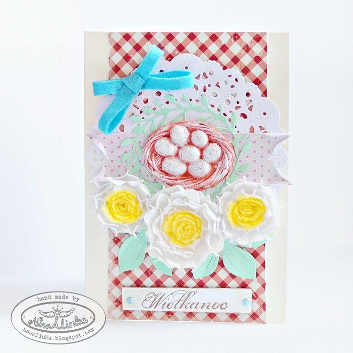 Wielkanocne kartki z gniazdkiem