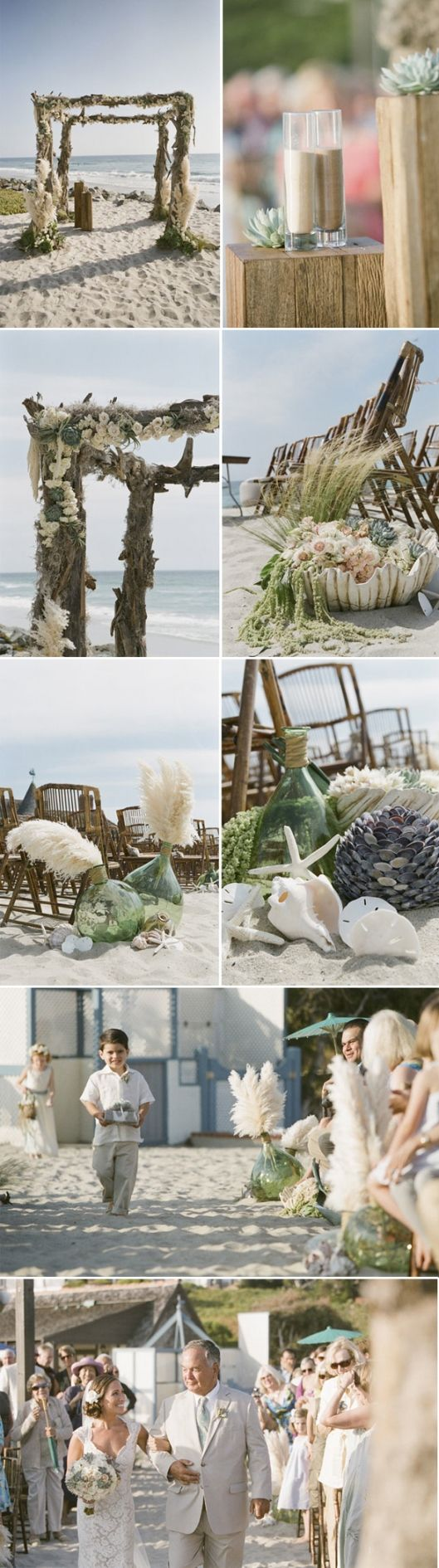 beach wedding detail- if I had it to do over again this is how I would want our…