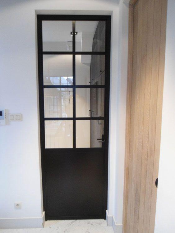 25 beste idee n over smeedijzeren deuren op pinterest grote entree ijzeren deuren en blauwe - Afscheiding glas keuken woonkamer ...