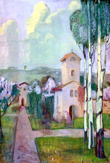 Gulácsy, Lajos (1882-1932) Church garden, 1904-1906
