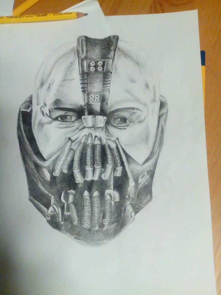 Bane Tom Hardy drawing