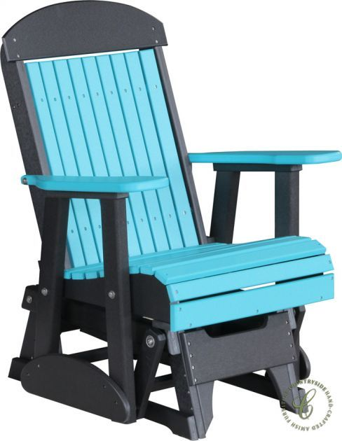The Stockton Outdoor Glider is constructed from durable, recycled plastic poly lumber in your preferred color combination from the Tahiti Collection.