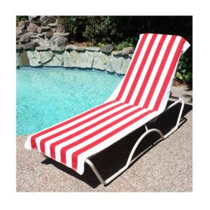 Beach Lounge Chair Cover Towel With Pocket