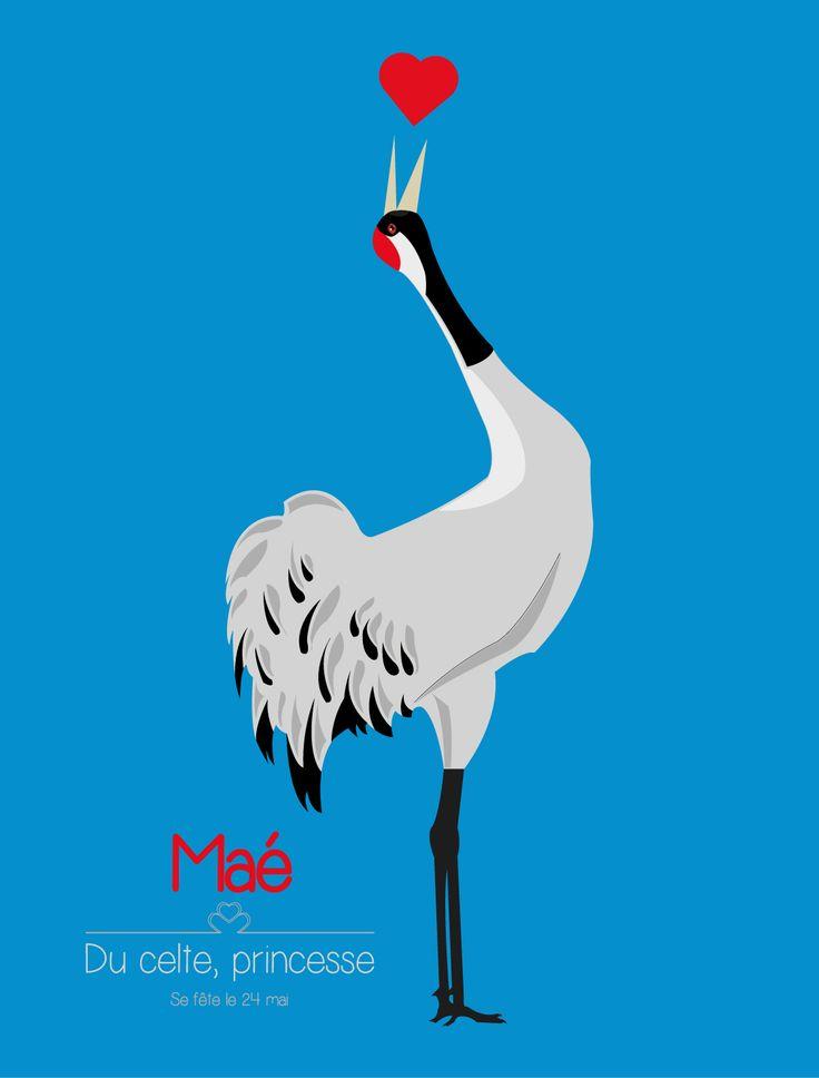 PTAK - Illustration - Maé - Grue cendrée - Common crane