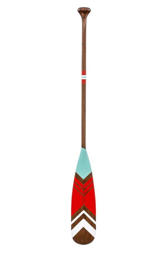 57 canoe paddle  decorative oar  wood canoe paddle by Ropesandwood