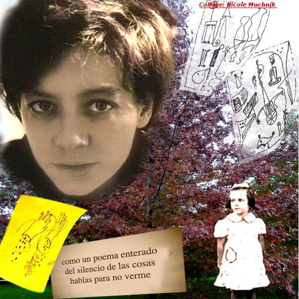 Alejandra Pizarnik (1936-1972) balances y perspectivas - Congreso Internacional - La Sorbonne  Imagen: collage de Nicole Muchnik.