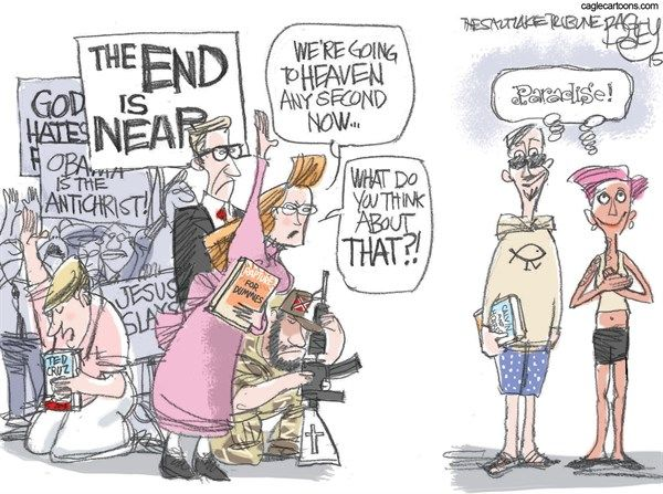 Image result for world is ending political cartoons