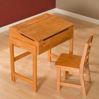New Sale Lipper Child 39 S Pecan Wood School Desk Storage Flip Top Lid Ebay Sideways Stories