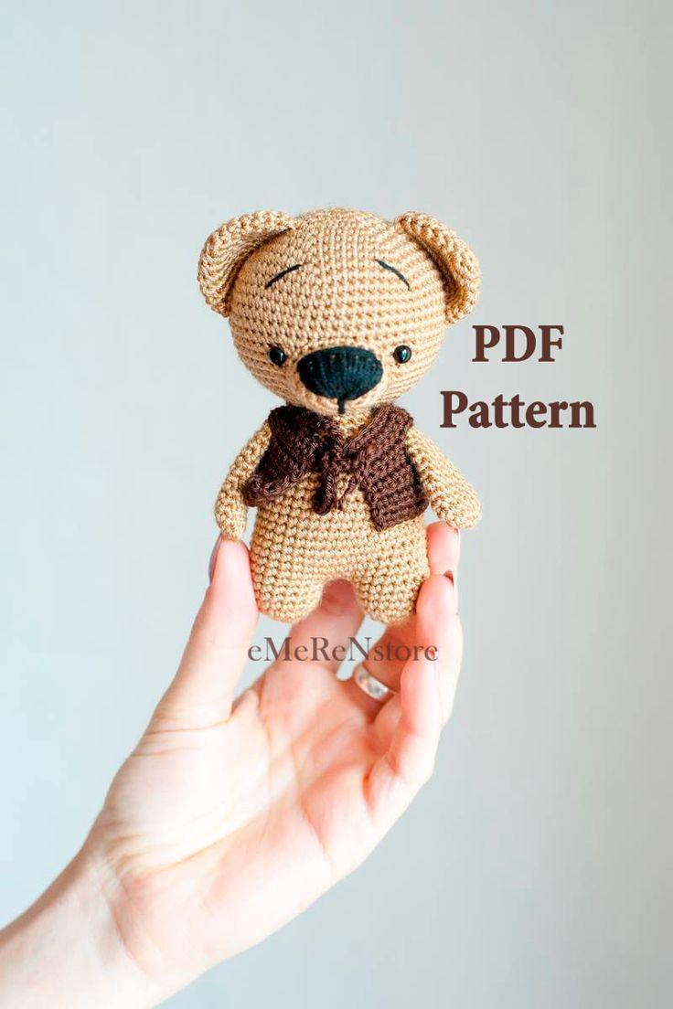 Kai the bear pattern.Easter amigurumi pattern, kawaii bunny, crochet teddy bear pattern, pdf amigurumi doll, bear patern,easy pattern by EmerensLove on Etsy