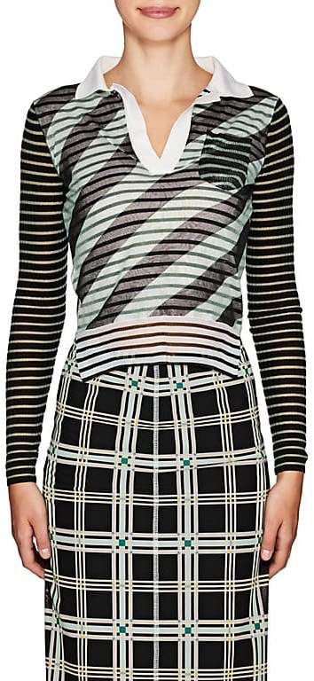 Fendi Women's Mesh-Layered Striped Polo Shirt  Fashion, Dream, Girl, Love, Prett…