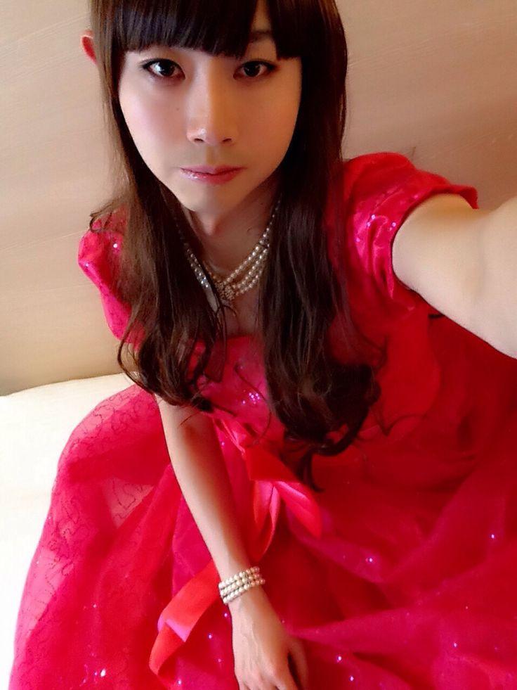 ピンクドレス♡(SAKURAノコ@crossdresser)