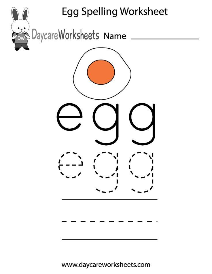 Best Preschool Spelling Worksheets Images On