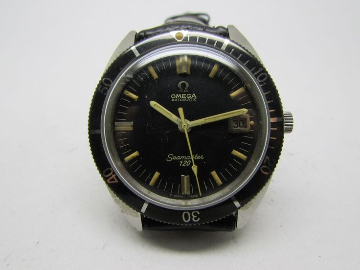 VINTAGE OMEGA SEAMASTER 120 AUTOMATIC DIVER MEN WRIST WATCH W/ DATE   | eBay
