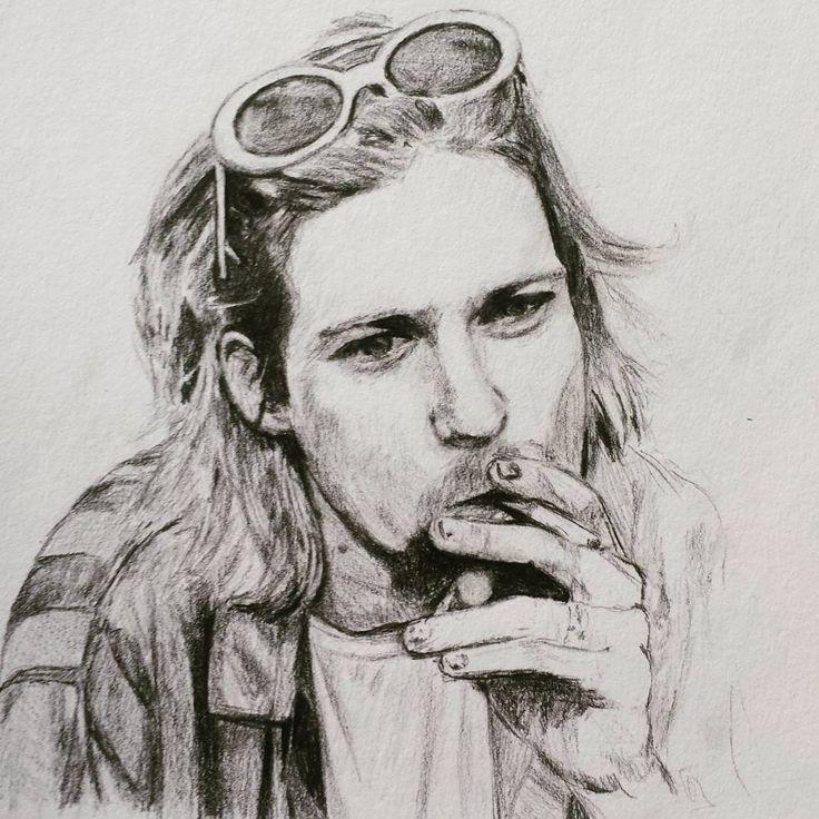 "79 Me gusta, 9 comentarios - Nicolás Correa (@j_nco26) en Instagram: ""Kurt Cobain ••••••••••••••••••••••••••••••••••• Visit my gallery of drawings @j_nco26…"""