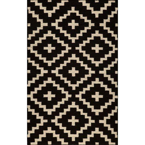 Hagler Hand Woven Black Area Rug Patrones De Tela Alfombras Tapetes