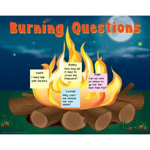 Burning Questions Poster-Saw this in a Really Good Stuff magazine and may try it out next year!