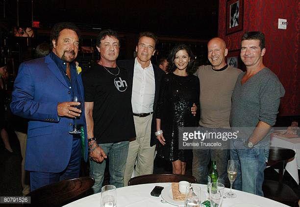 Singer Tom Jones actor Sylvester Stallone California Governor Arnold Schwarzenegger actress Catherine Zeta Jones actor Bruce Willis and producer...