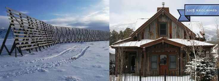 This whole #home was built from #reclaimed snow fencing!