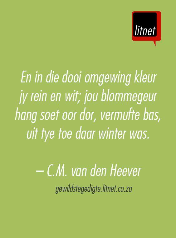 """""""Amandelboom, O Lentebruid"""" deur C.M. van den Heever  #afrikaans #gedigte…"""