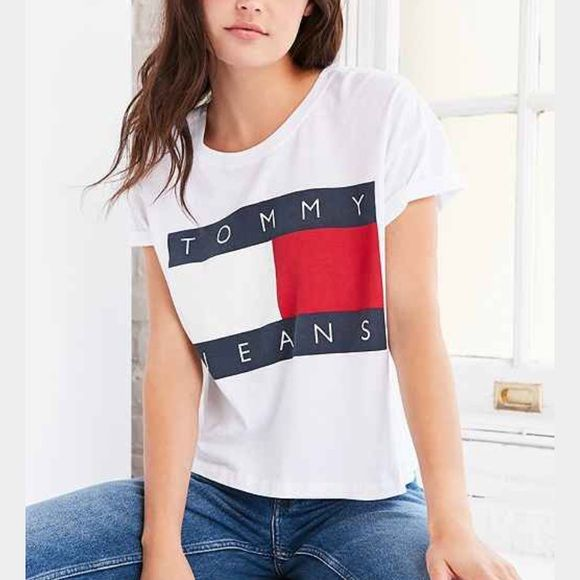 Shop Women's Tommy Hilfiger White Gray size M Tees - Short Sleeve at a discounted price at Poshmark. Description: Grey or white in size Small- medium! Should be the 90s tommy jeans shirt. Sold by karly1432. Fast delivery, full service customer support.