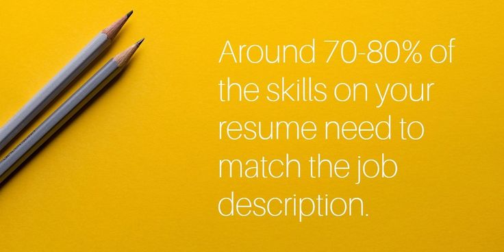 keyword skills that match a job descrition