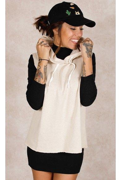 Regata Street com Capuz Off White Fashion Closet - fashioncloset