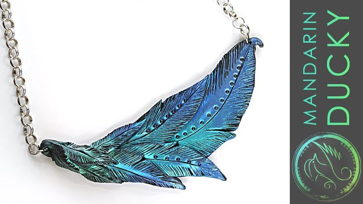 This polymer clay tutorial will show you how to make a night out diy necklace from polymer clay in a shape of a feather using MICA Powders. I will show you h...