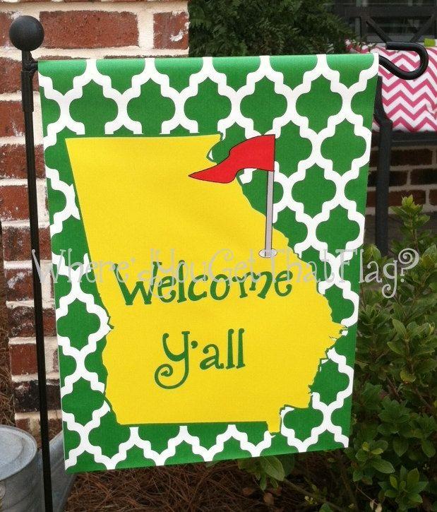 Custom Personalized Garden Sign Golf GA by Wheredyougetthatflag, $25.00